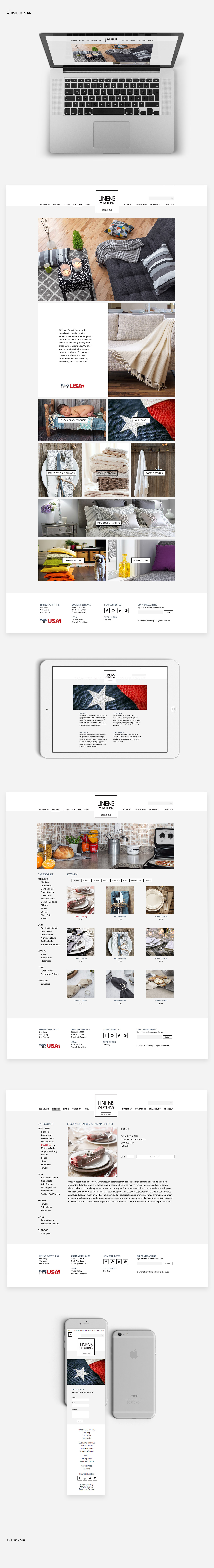 Linens Everything Website Design